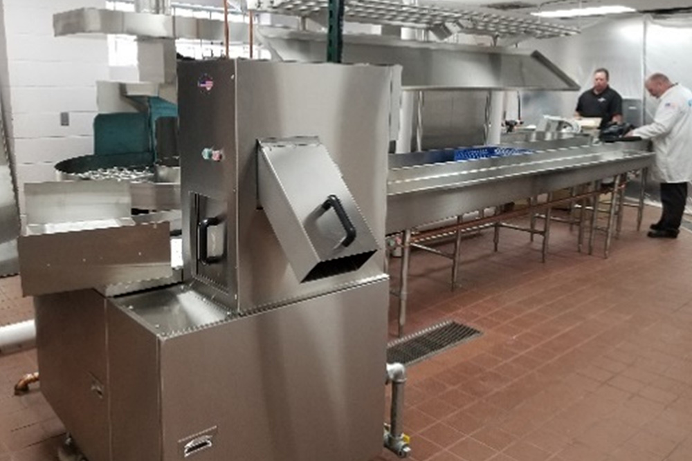 Stainless steel appliances in a commercial kitchen